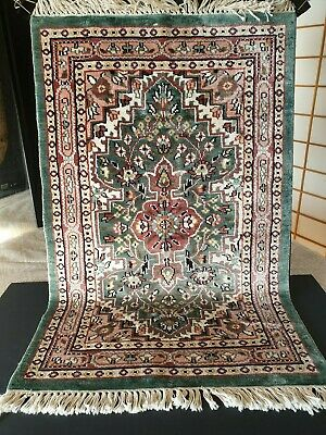 Old Turkish Silk on Cotton Rug …beautiful collection & display / accent piece