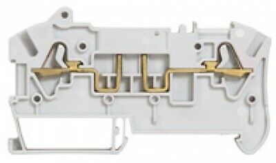 2x Legrand VIK-3 SPRING TERMINAL BLOCKS 6mm Pitch, 2-Wires Disconnect Open GREY