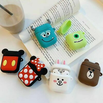Cute Disney Cartoon Earphone Silicone Case Protective Cover for Apple Airpods