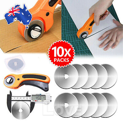 10Pcs Steel Circular Rotary Cutter Refill Blades Patchwork Fabric Leather Craft