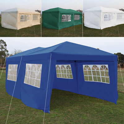 6m x 3m Garden Heavy Duty Pop Up Gazebo Marquee Party Tent Wedding Canopy Panels