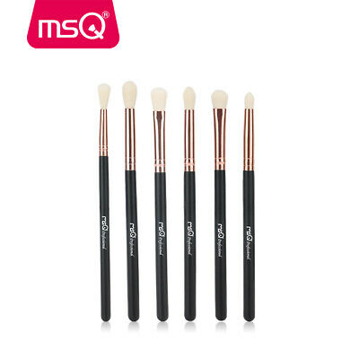 AU MSQ 6pcs Eye Brush Set Eyeshadow Eyebrow Eyeliner Blending Makeup Brush Tool