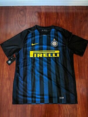 136fe355 Nike 2016-2017 Inter Milan Home Football Soccer Signed Jovetic Size Xl