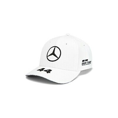 NEW 2019 Mercedes AMG F1 Team MENS Lewis Hamilton WHT Baseball Cap Hat OFFICIAL