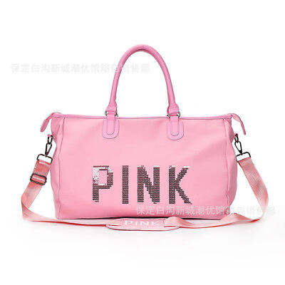 Victori Secret PINK Canvas Duffle School Holiday Gym Travel Weekend  Bag UK SALE