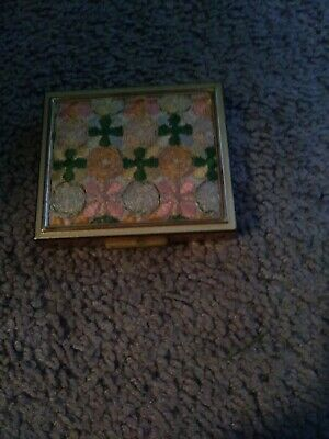 Vintage Compact Petty Cash Box With Money Clip And Change