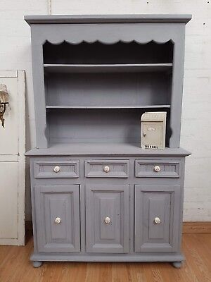 Stunning Vintage French Painted Pine Dresser