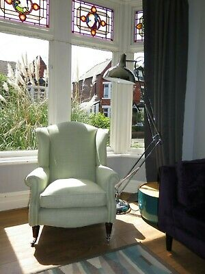 Pale Green LAURA ASHLEY 'Southwold' Wingback Chair Armchair