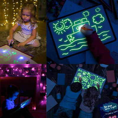 Draw With Light Fun And Developing Toy Drawing Board Magic Draw Educational US