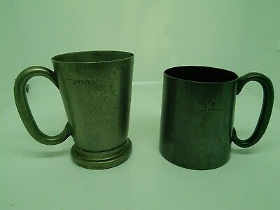 Victorian Tankards Both 1/2 Pint Pewter