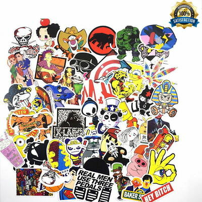 50Pcs Mixed High Quality Cartoon Laptop Vinyl Stickers Suitcase Waterproof Decal