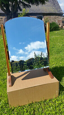 Vintage Antique Mahogany Swing Toilet Dressing Table Mirror bevelled edge glass