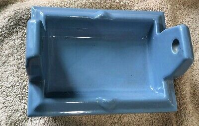 Vintage Blue NOS  Ceramic Toilet Paper Holder Mid Century Bathroom