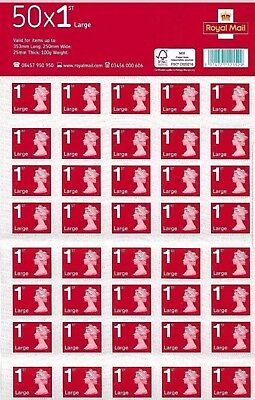 2 x 50 x 1st class Royal mail large letter stamps