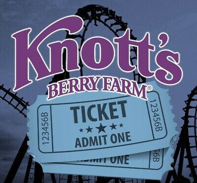 2 KNOTT'S BERRY FARM THEME PARK TICKETS - ADULT OR CHILD - Buena Park, CA