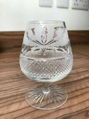 Edinburgh Thistle small brandy glasses x 6 - no chips or cracks