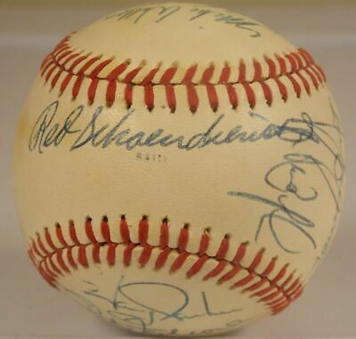 1976 St Louis Cardinals Signed ball JSA Hernandez McBride Simmons Red Bee Bee
