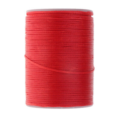 0.8mm Flat Waxed Thread Cord Beading DIY Jewelry Necklace Making String Red