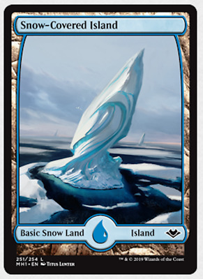 Magic the Gathering MTG Modern Horizons Snow-Covered Island 251/254