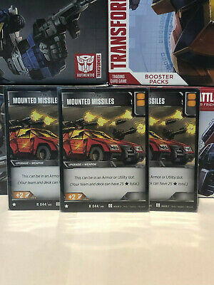 Transformers TCG Wave 2 R 044 Mounted Missiles - 3 Battle Cards