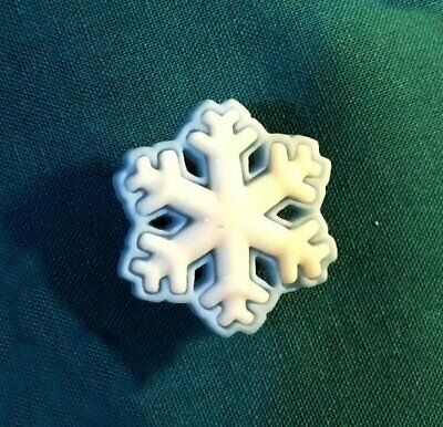 Cute SNOW FLAKE SnowFlakes Light Blue and White FROZEN Holey Clog Shoe Charm