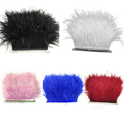 Ostrich Trims DIY Costumes Feather Fringe Satin Dress Sewing Crafts Ribbon Tape
