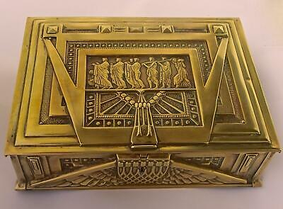 Exceptional Erhard & Söhne Art Nouveau Brass Box: Musical Maidens