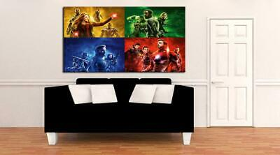 Avengers End Game CANVAS PRINT Wall Art Poster Marvel Super Hero Iron Man CA1236