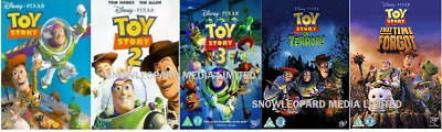 Toy Story 5 Movie Film Collection Dvd Part 1 2 3 4 Terror 5 Time Forgot New Uk