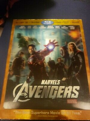 The Avengers 3D Blu-ray 2012, 4-Disc Set, Includes DIGITAL IS A DISC NO CODE