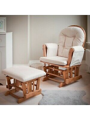 sneakers for cheap 1d3c6 410bc KUB HAYWOOD NURSING Glider and Footstool, Breastfeeding Chair, Natural Wood