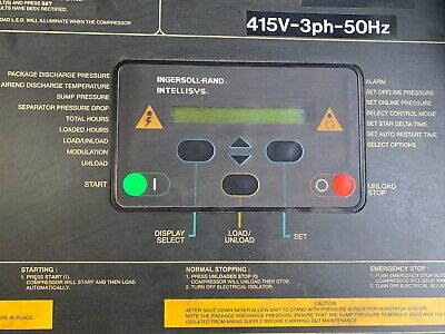 ingersoll Rand Intellisys Controller SSR M22 - 150 kW suits range of machines