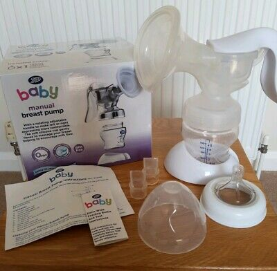 Boots Baby Manual Breast Pump. Boxed and complete. Excellent used condition.