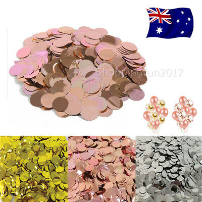 2700x Silver Rose Gold Pink Glitter Round Table Confetti Party Balloon Sequin AU