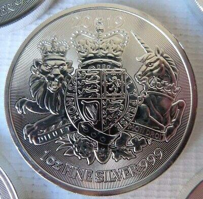 TWO x 2019 1oz Royal Coat of Arms 1 ounce .999 Silver Bullion unc Mint coin x2