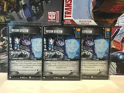 Transformers TCG Wave 2 R 053 Recon System - Set of 3 Battle Cards