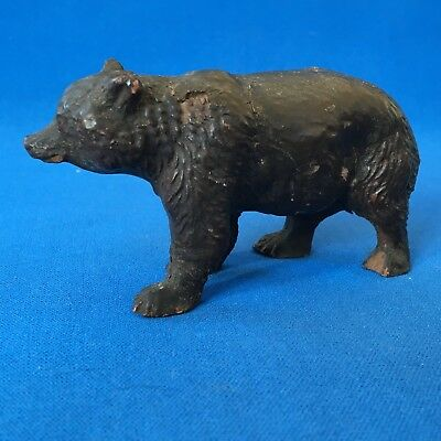 Antique black forest carved walking bear in original lacquer circa 1900