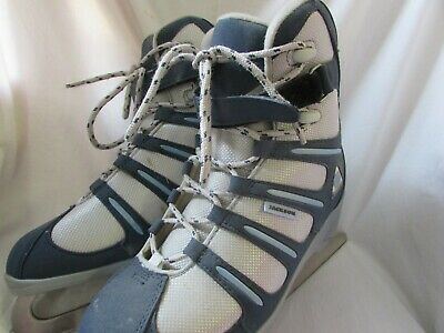 Jackson Softec Ice Figure Skates Size 8 (tight fit) Used Grey and Blue