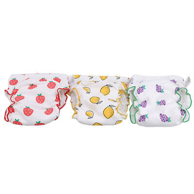 Baby Boys Girls Fruit Shape Training Pants Washable Reusable Cotton Nappy Diaper