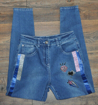 GEORGE Girls Jeans Denim Trousers 10-11 Years Cotton Blend