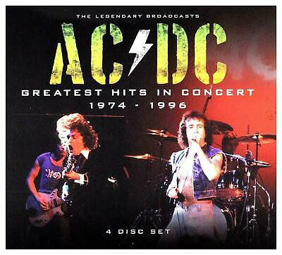 Ac/dc - Greatest Hits In Concert 1974 - 1996: 4 Cd Set - Brand New / Sealed