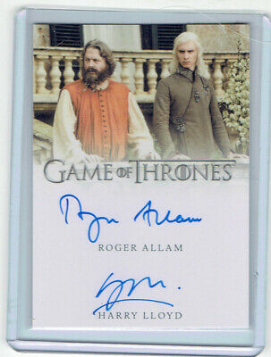 2019 Game Of Thrones Inflexions Roger Allam Harry Lloyd 2X Auto Magister Viserys
