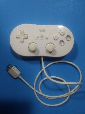 Official Genuine Nintendo Wii White Classic Controller RVL-005 Tested