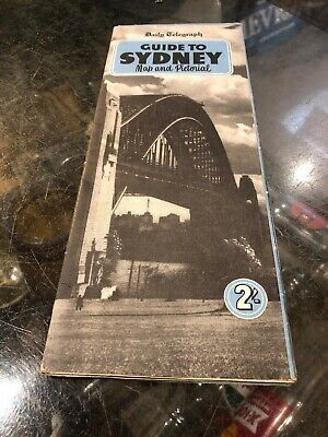 Sydney Guide Daily Telegraph Map & Pictorial Vintage