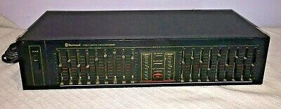 Sherwood Model No. EQ460B ~ Stereo Graphic Equalizer ~ Band, DJ, Church, Club ~