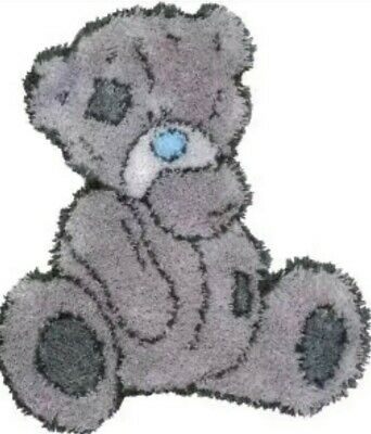DIY Cute Tatty ted shaped rug Make your own Rug Latch Hook Craft Kit blue nose
