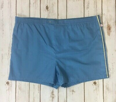 JANTZEN Vtg Mens Blue Lined Swim Trunks Short Shorts No Sz Tag 40-ish In Waist
