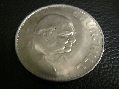 Winston Churchill  1965 Silver Coin Crown Medal Coin Free Shipping!!