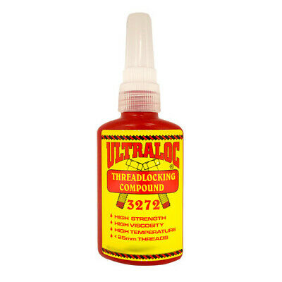 Ultraloc Threadlocking Compound Red - Anaerobic High Strength - High Temp - High