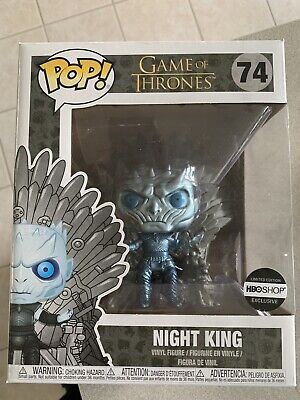 METALLIC NIGHT KING ON THRONE Funko Pop Game Of Thrones HBO Exclusive In-Hand